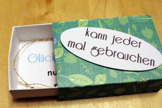 DIY kleine Streichholzschachteln/ Matchbox – und etwas Glück zum verschenken #weihnachtsmarktideenverkauf