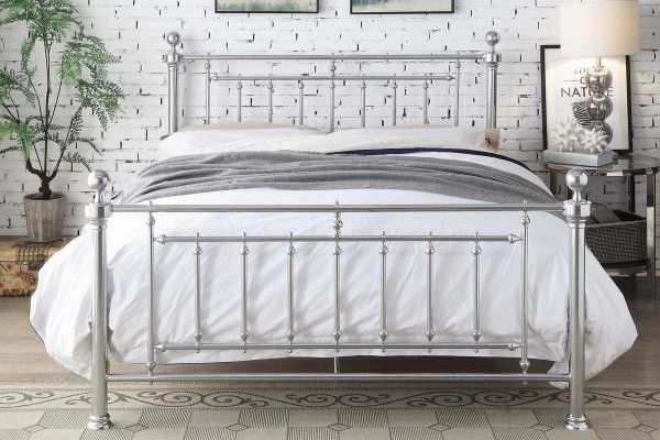 Best Oxford Industrial Scaffold Brown Metal Fabric Bed Frame 400 x 300