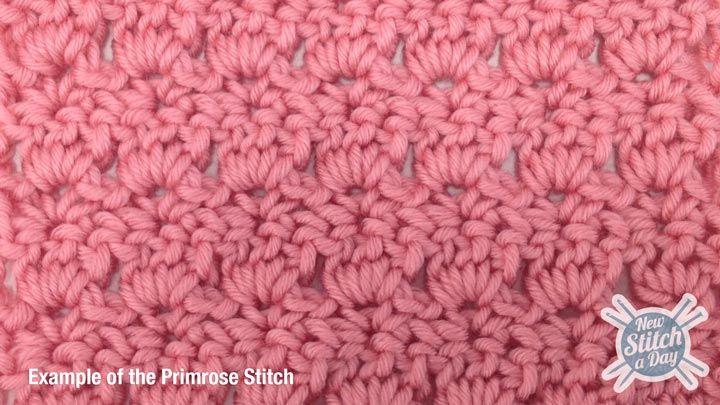 How to #Crochet the Primrose Stitch (video) beautiful stitch