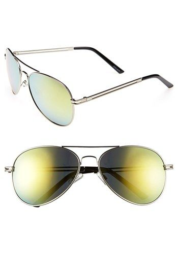 40a8c783b34  Flash  Aviator Sunglasses available at  Nordstrom Gold Aviators