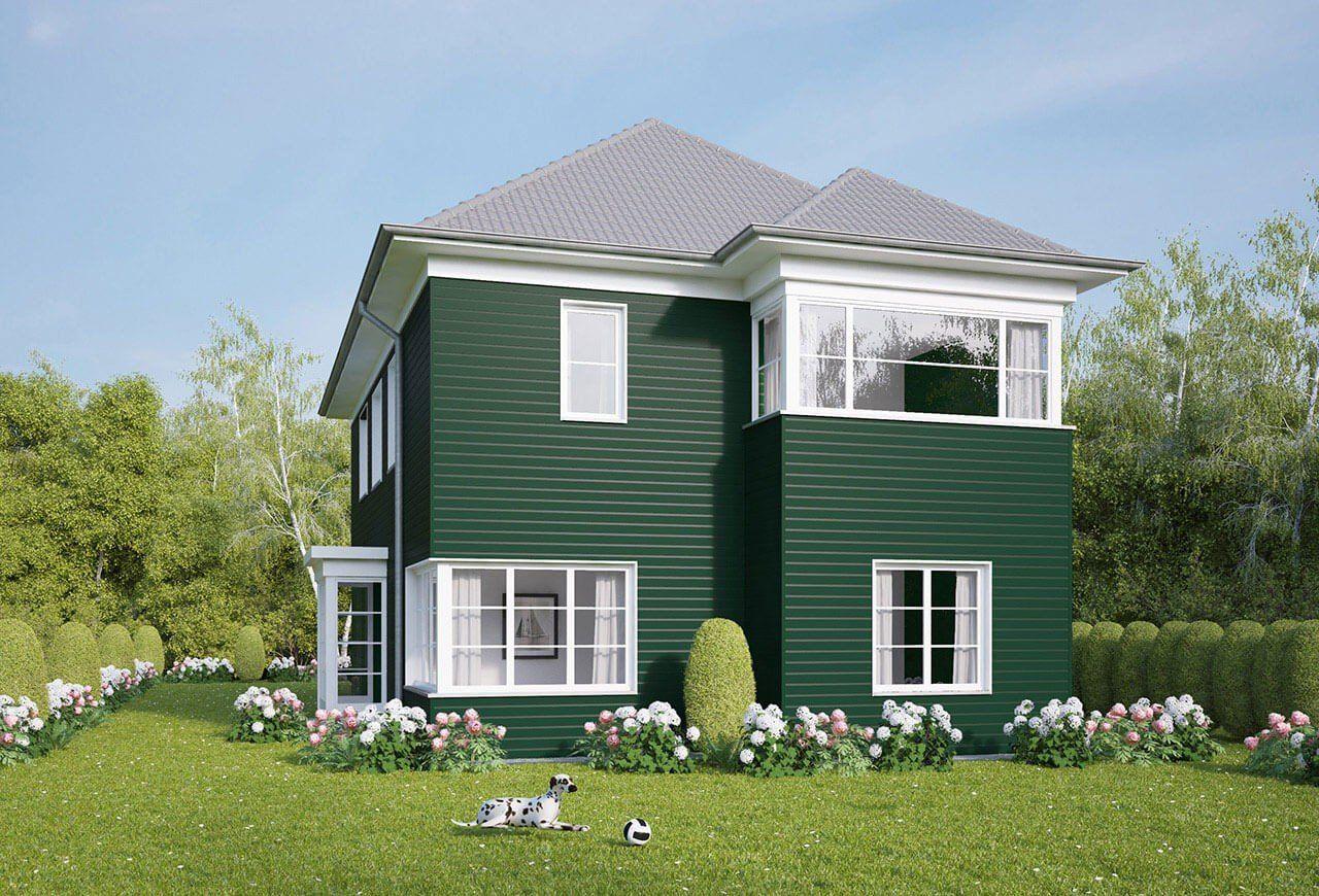 Photo of Fassaden in der Farbe grün