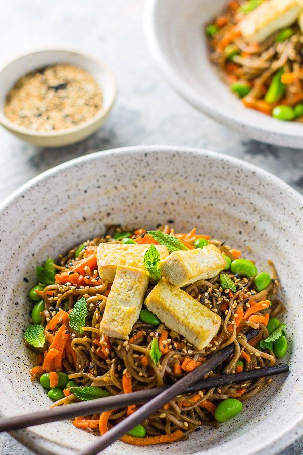 Carrot Ginger Soba Noodle Bowl