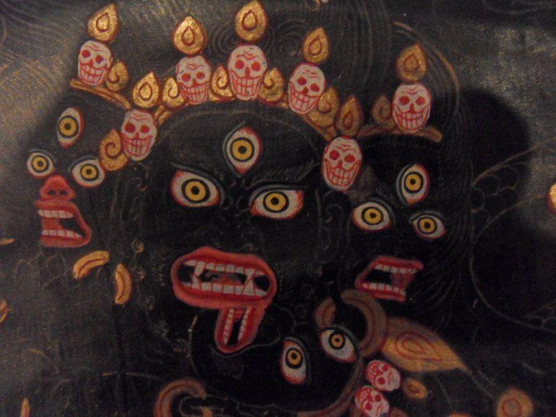 Tibetan black ground thangka of dharmapala Hayagriva | Where my head ...