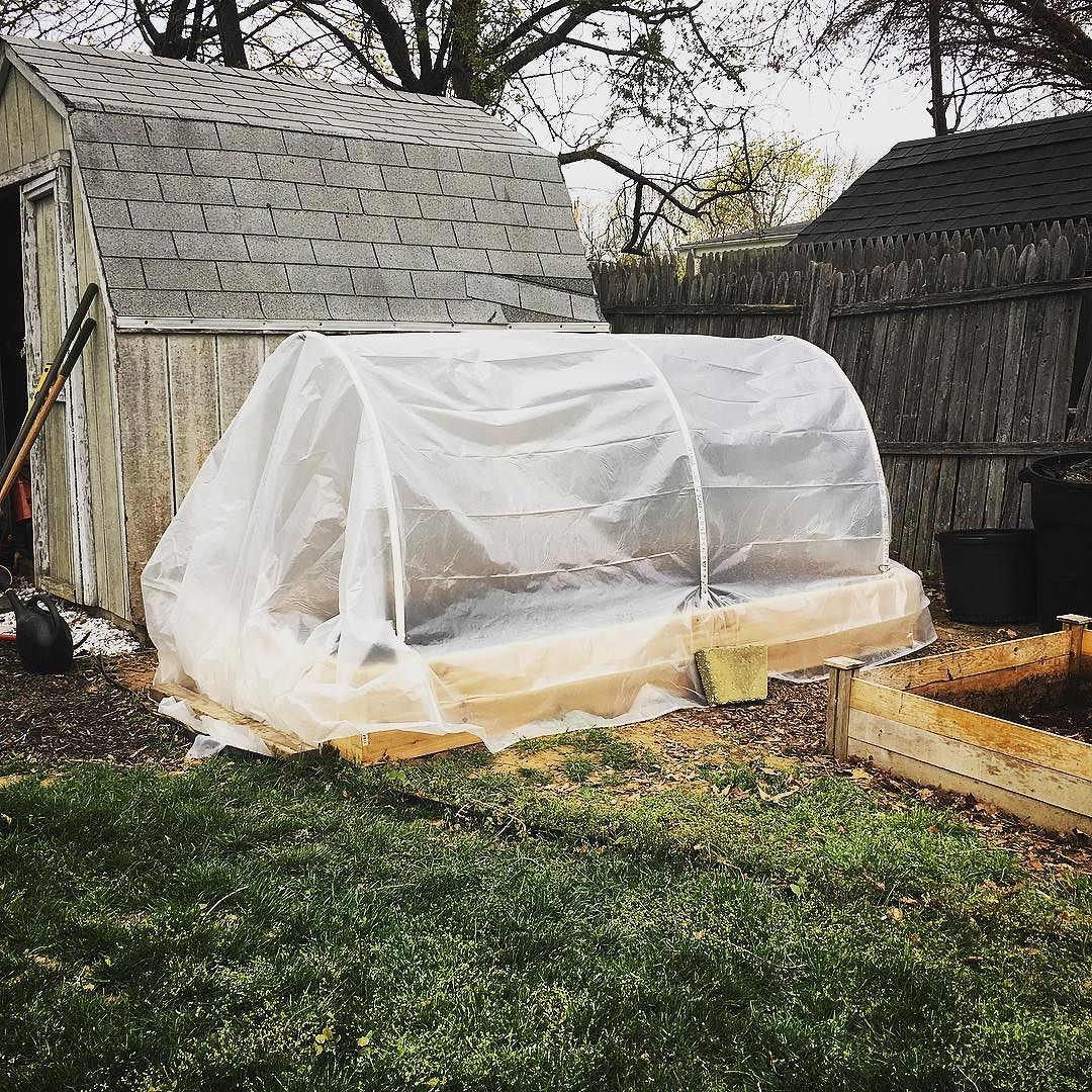 Convertible greenhouse. Here with the cover on. I think I