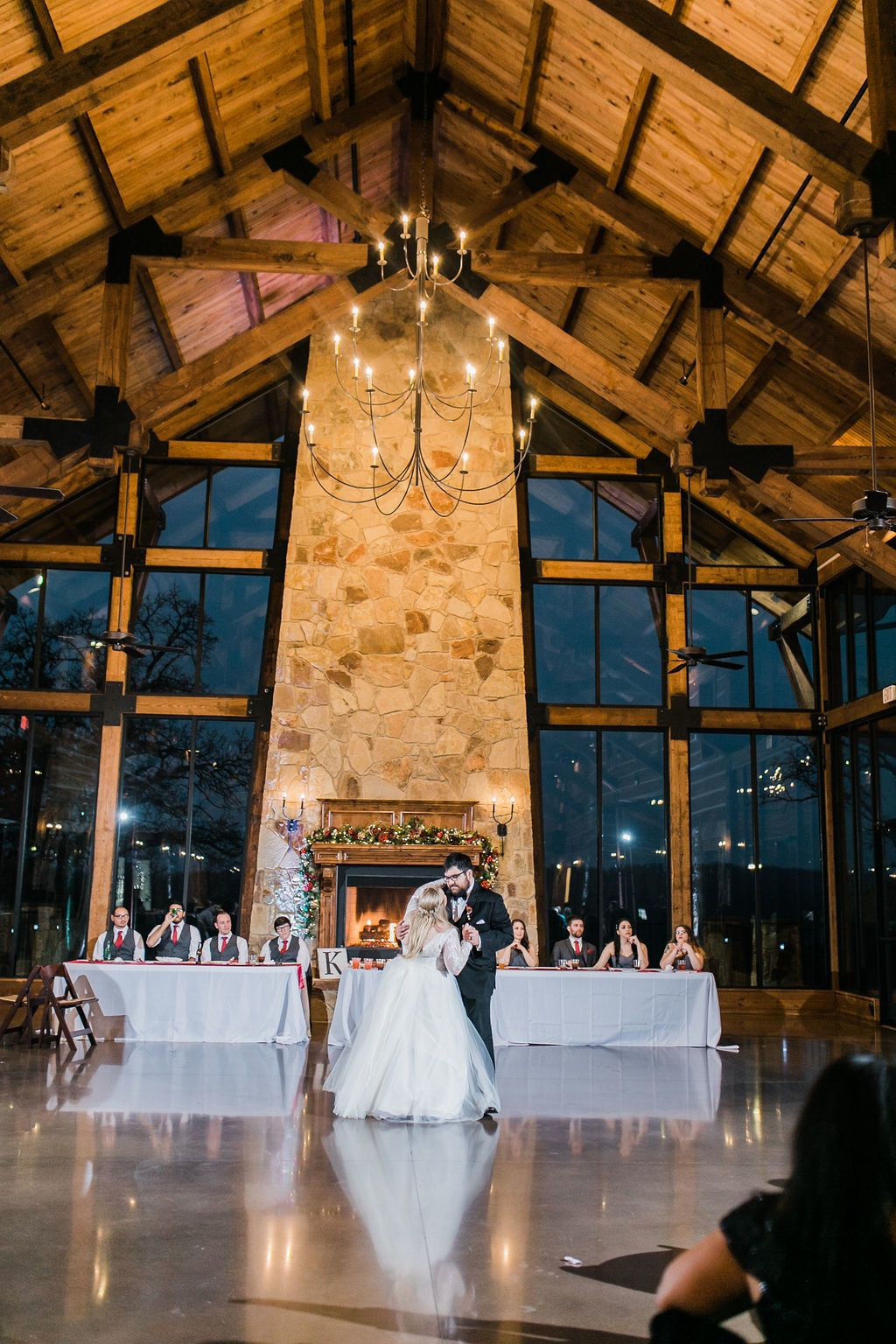 First Dance Winter Wedding Reception Christmas Wedding Reception Lodge Wedding Reception Winter Wedding Receptions Dfw Wedding Venues Wedding Venues