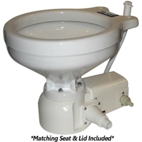 Raritan Sea Era Marine Size Toilet Press Fresh Water 0 Discharge Smart Switch 12v White Products Fresh Water Toilet Water