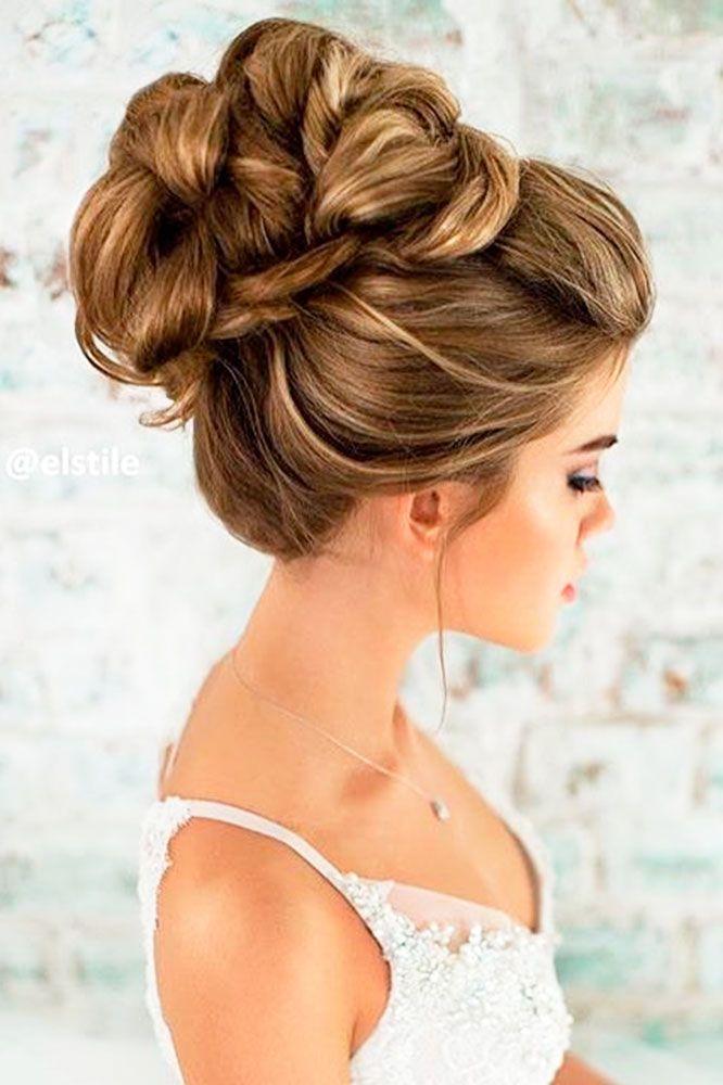 Peinados altos para novia 2018