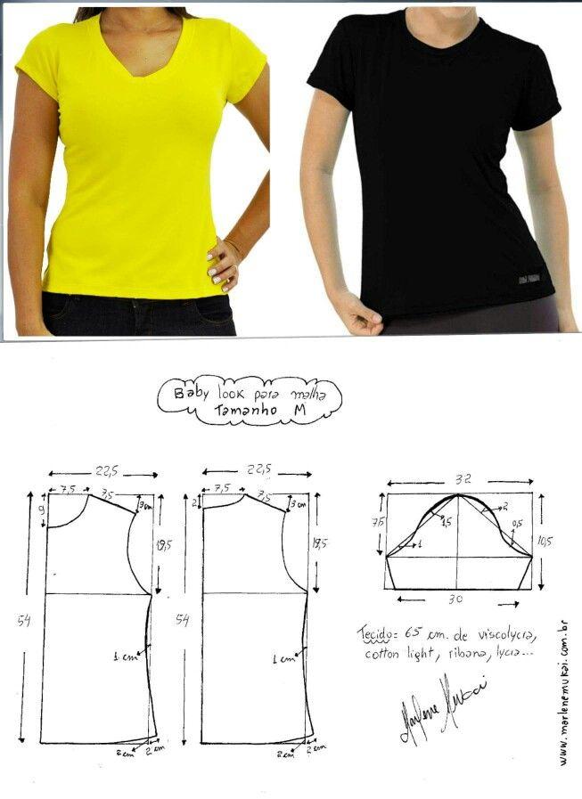 Pin de Viviane Rodrigues em Blusas, camisas e modelagens | Pinterest ...