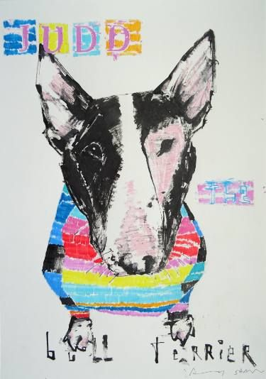 Donald Judd The Bull Terrier Dog Drawing Dog Drawing Bull