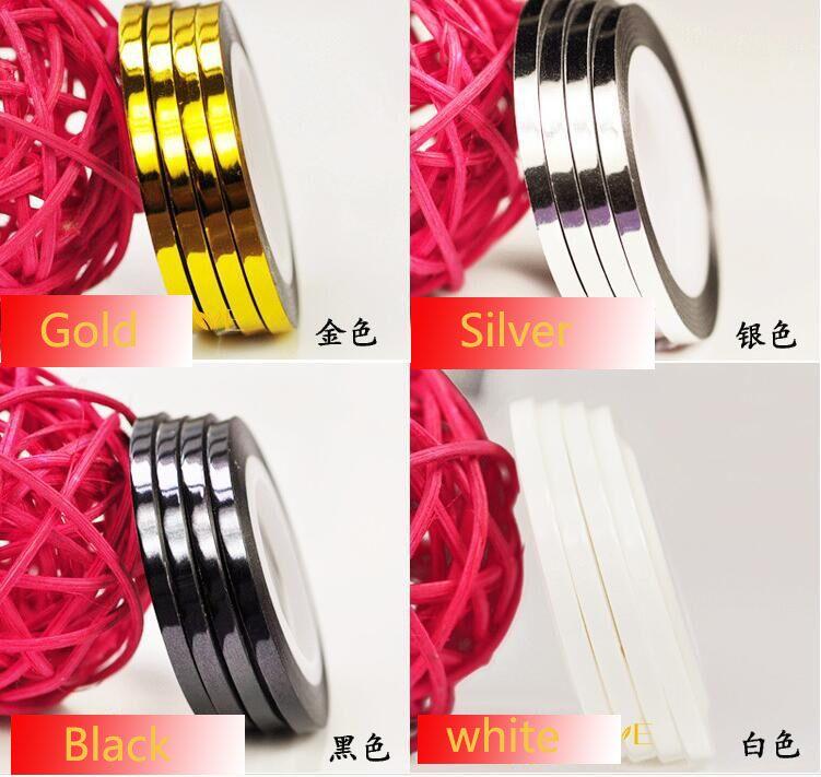 10PCS 2mm/3mm Mixed Colors Radium Self-adhesive 3D Nail Line ...