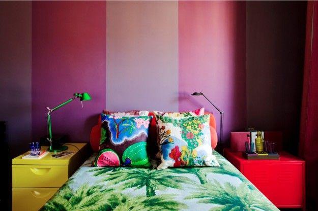 Idee per arredare la camera da letto - Camera colorata ...