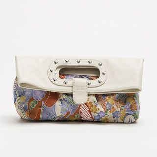 Shop for Wa Obi 'Abby' White Leather and Fabric Foldover Clutch. Get free delivery at Overstock.com - Your Online Handbags Outlet Store! Get 5% in rewards with Club O!