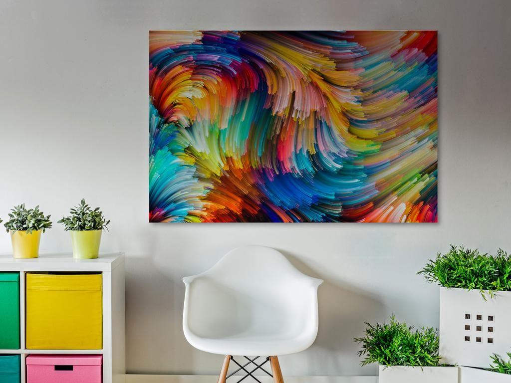 20901 Obraz Na Plotnie Abstrakcja Kolor 120x80 5894624236 Oficjalne Archiwum Allegro Printed Shower Curtain Decor Tapestry