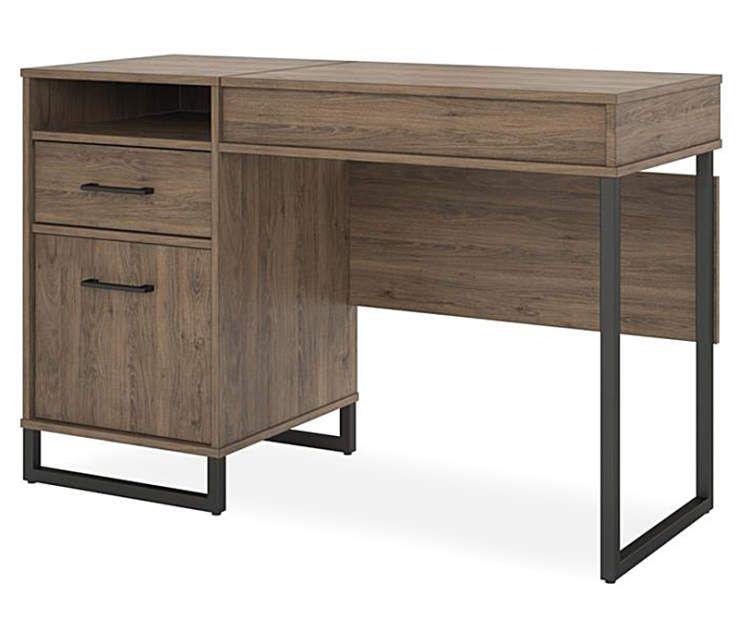 Ameriwood Salina Oak Lift Top Desk Big Lots In 2020 Office Desk Small Corner Desk Desk