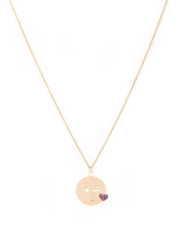 Flying kiss emoji necklace necklaces jewelry fashion
