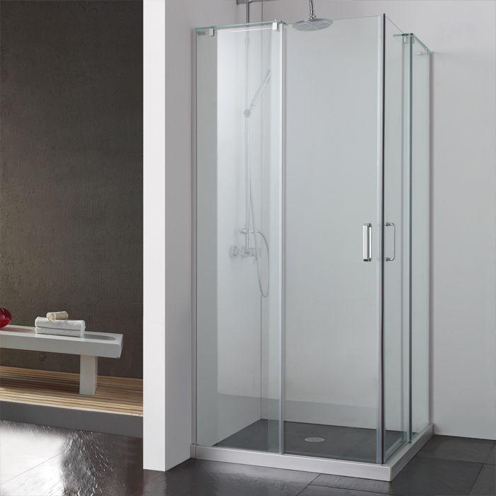 36 X 36 Balata Corner Shower Enclosure With Dual Sliding Doors