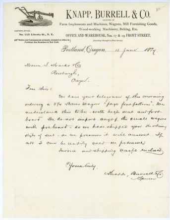 Antique Letterhead Knapp Burrell  Company  Letterheads And