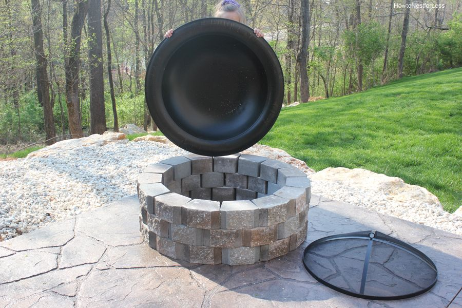 Diy Fire Pit How To Build A Patio Fire Pit How To Nest For Less Outside Fire Pits Fire Pit Insert Fire Pit Patio