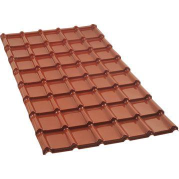 Plaque Composite Tegola Aspect Tuile Rouge 1 07 X 2 08 M Tole Pour Toiture Toiture Polycarbonate