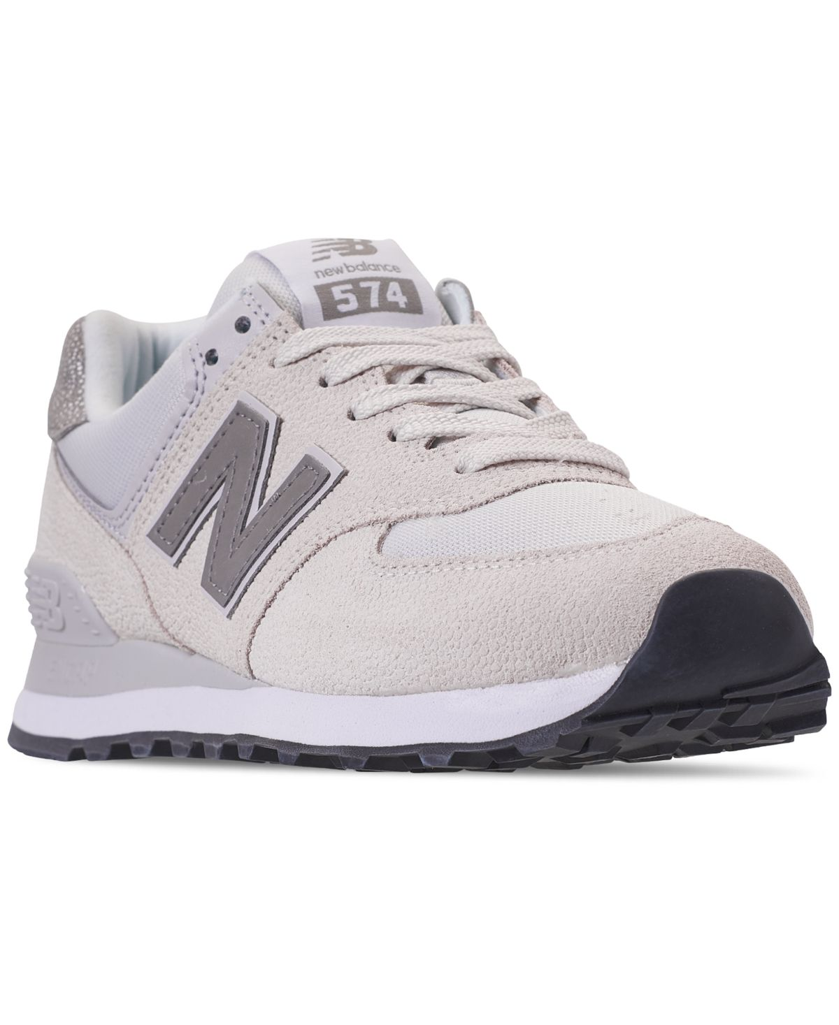 New balance womens 574 pebbled casual sneakers from