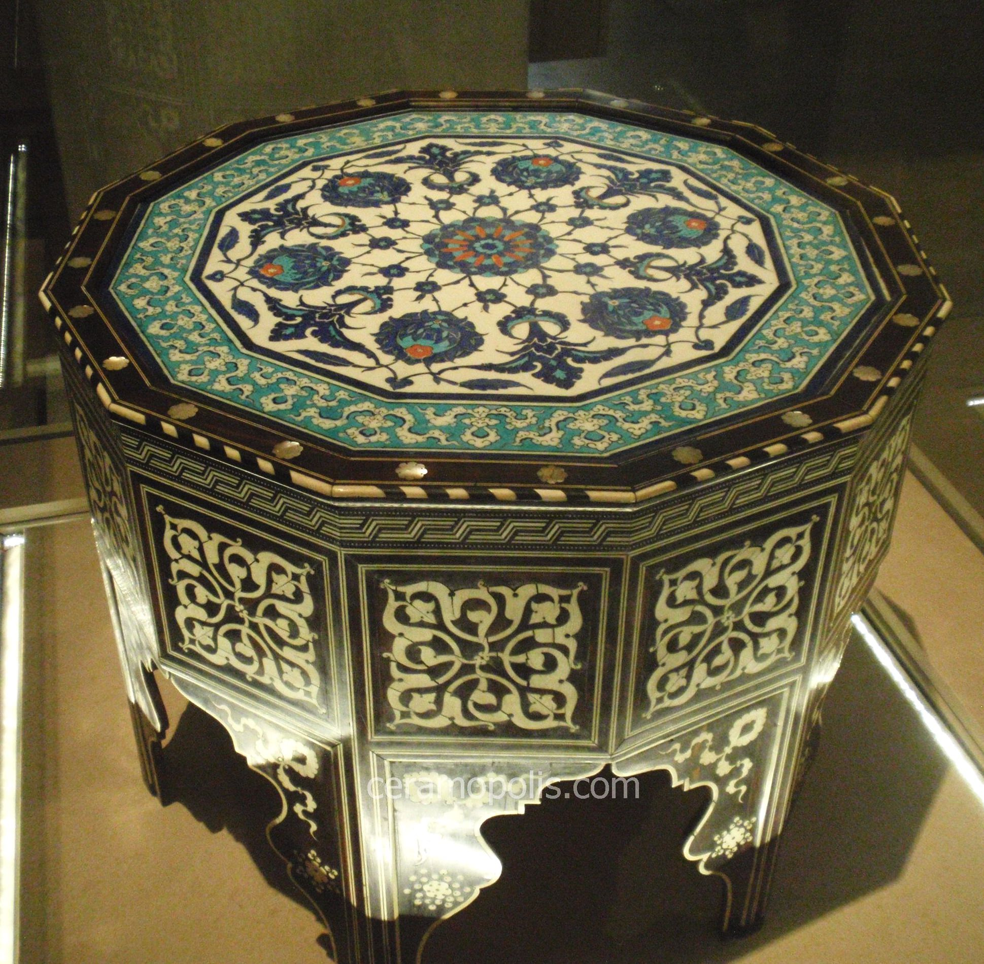 Iznik 16th Tile-Top Table