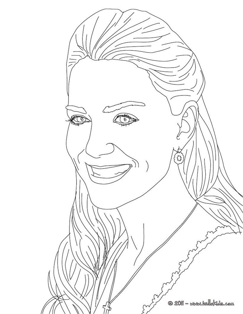 Kate Middleton Coloring Page More Kate And Wiliam Content On Hellokids Com People Coloring Pages Coloring Pages For Teenagers Cute Coloring Pages