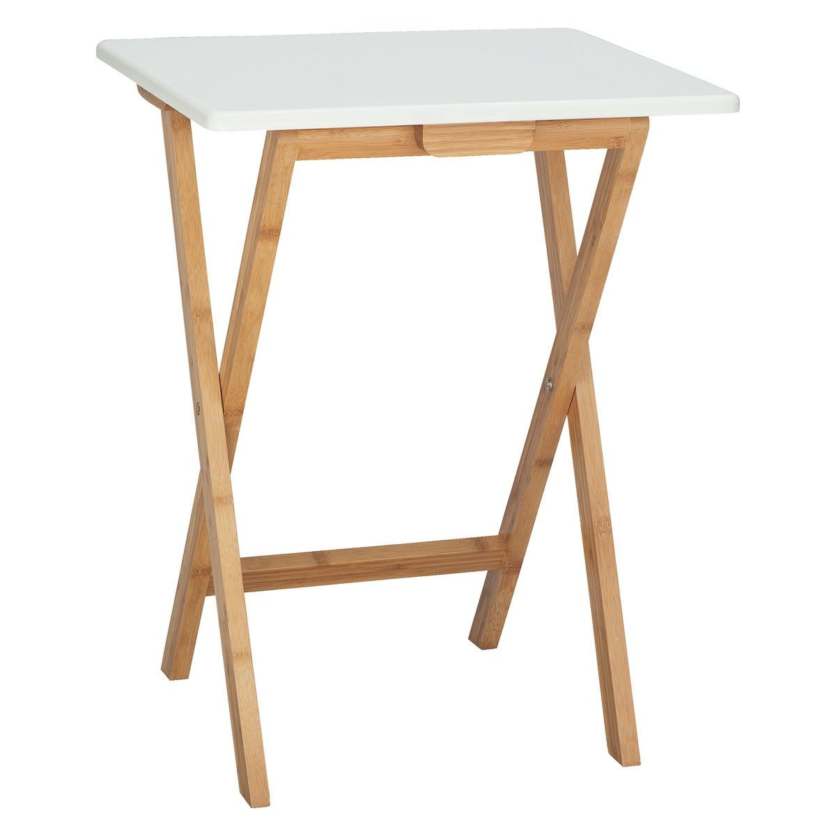 Bon DREW Bamboo And White Lacquer Folding Side Table | Buy Now At Habitat UK