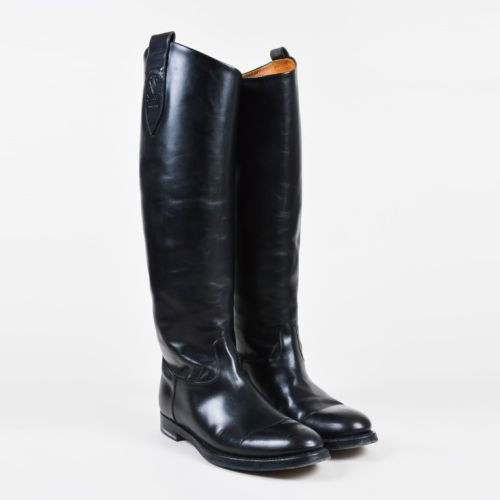 Gucci-Black-Leather-Knee-High-034-Equestrian-034-Riding-Boots-SZ-38