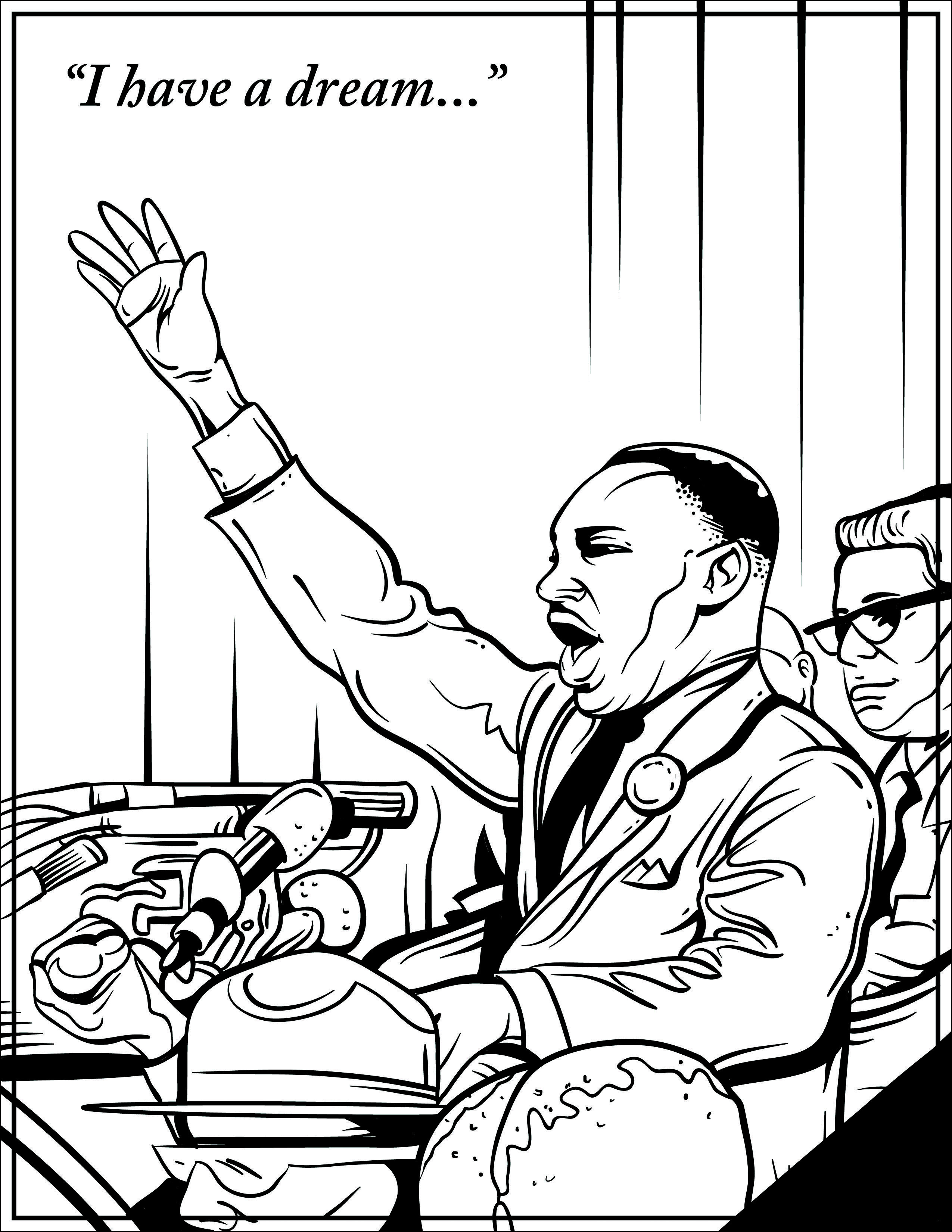 Free coloring pages martin luther king jr - A Great Martin Luther King Jr Day Activity For Students And Kids