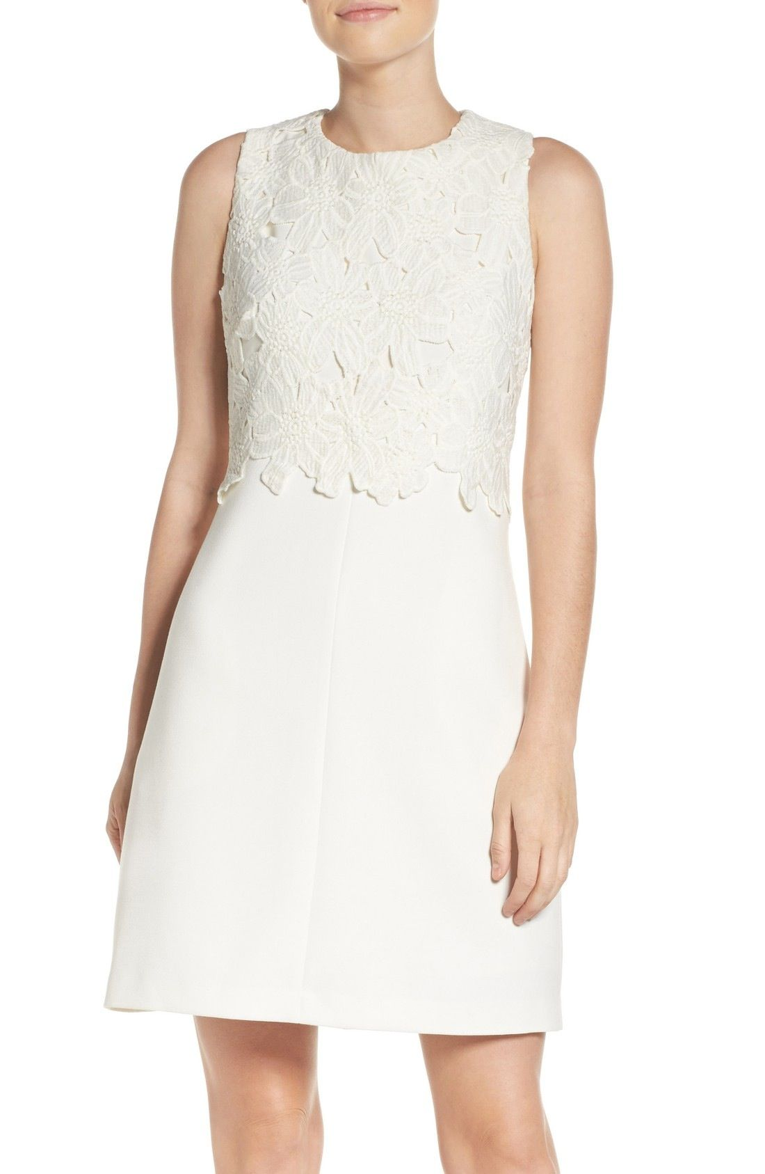 d3be8cfa4c3 Vince Camuto Lace Popover Shift Dress available at  Nordstrom
