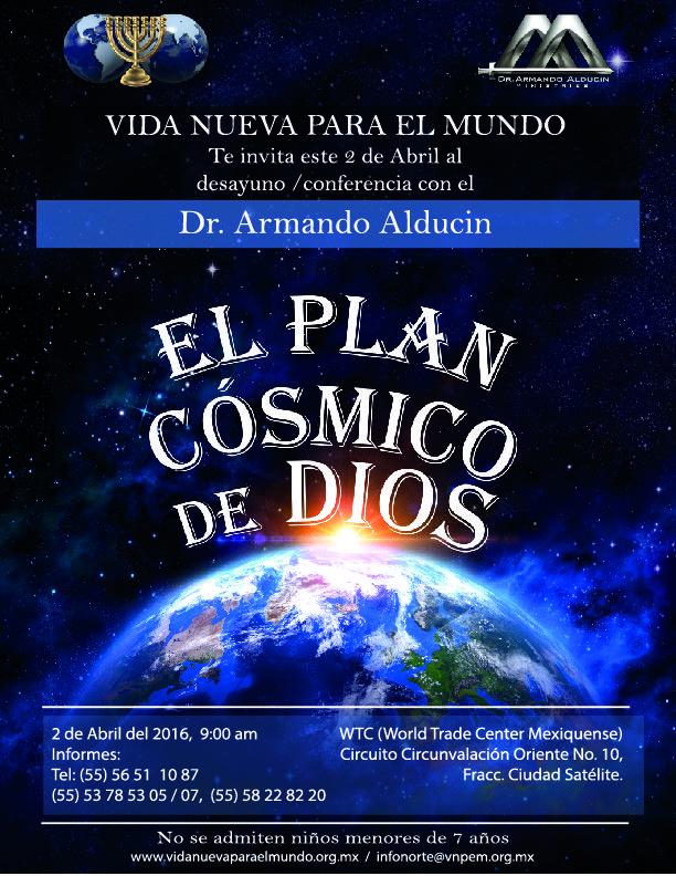 Puedes verla en este sitio: http://livestream.com/ArmandoAlducin/elplancosmicodedios