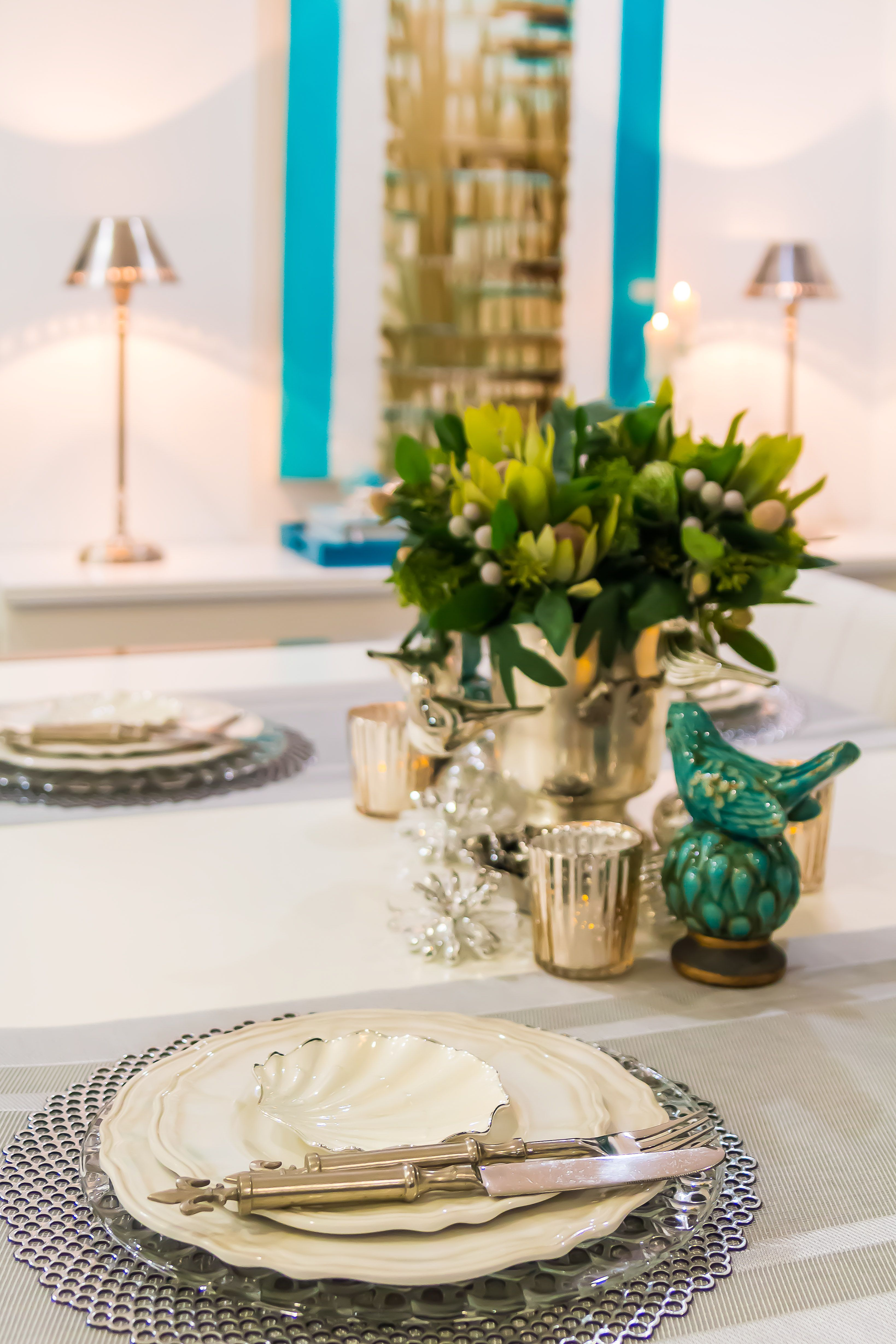 Table styling staged and styled by pecodresidential