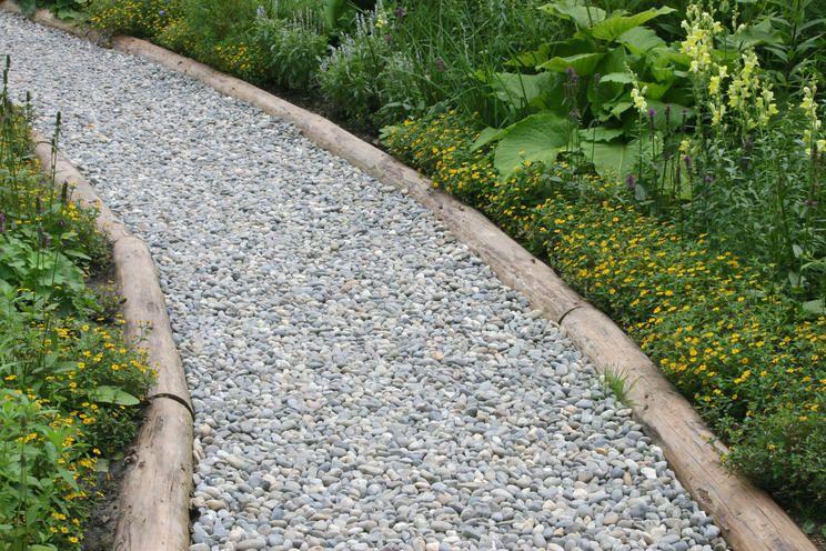 Gartenweg Aus Kies In 2020 Gartenweg Garten Garten Design