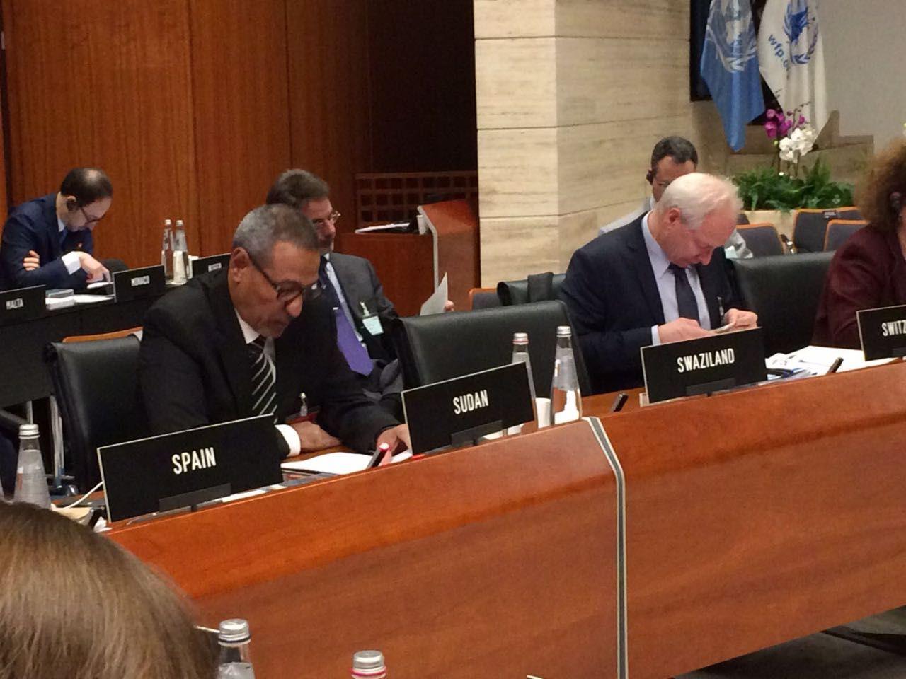 مفوض العون الإنساني يخاطب إجتماع المجلس التنفيذي لبرنامج الغذاء العالمي