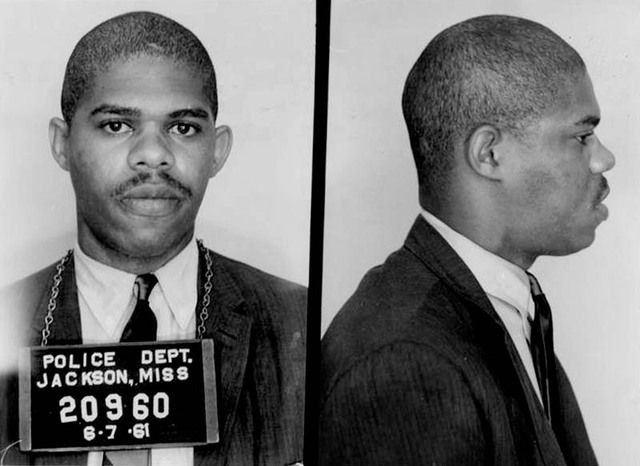 Obadiah Simms III, a student at Virginia Union University from Pittsburgh, PA, was among the Freedom Riders arrested in Jackson, June 7, 1961  Photo credit: Mississippi Sovereignty Commission Files/Courtesy Mississippi Department of Archives & History