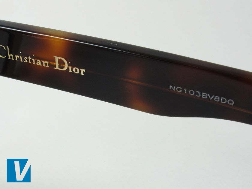 d86bb4b2a809 The inside of the right temple arm of new Dior sunglasses features the Christian  Dior logo. Newer models also feature a serial number.