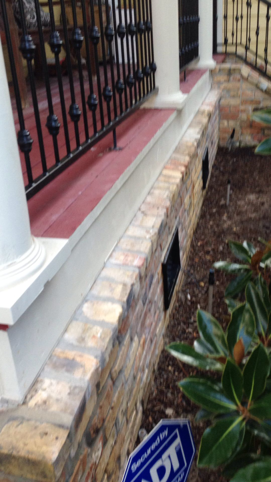 Brick Skirt With Rowlock House Awnings Diy Awning Outdoor Decor