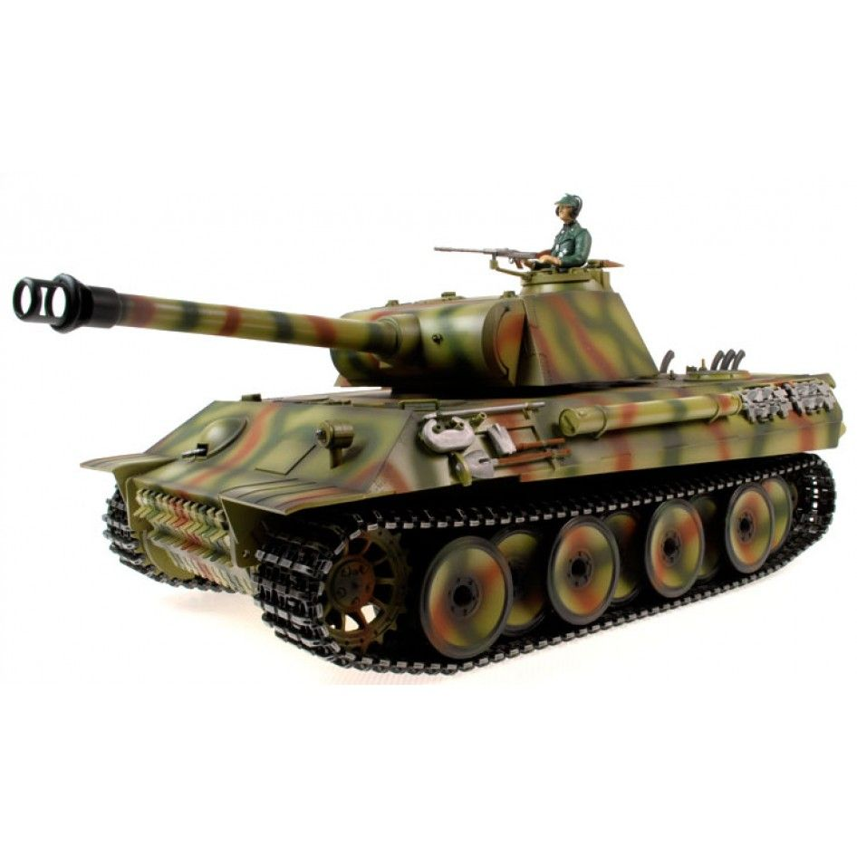 Taigen Hand Painted RC Tanks Metal Upgrade Panther 2
