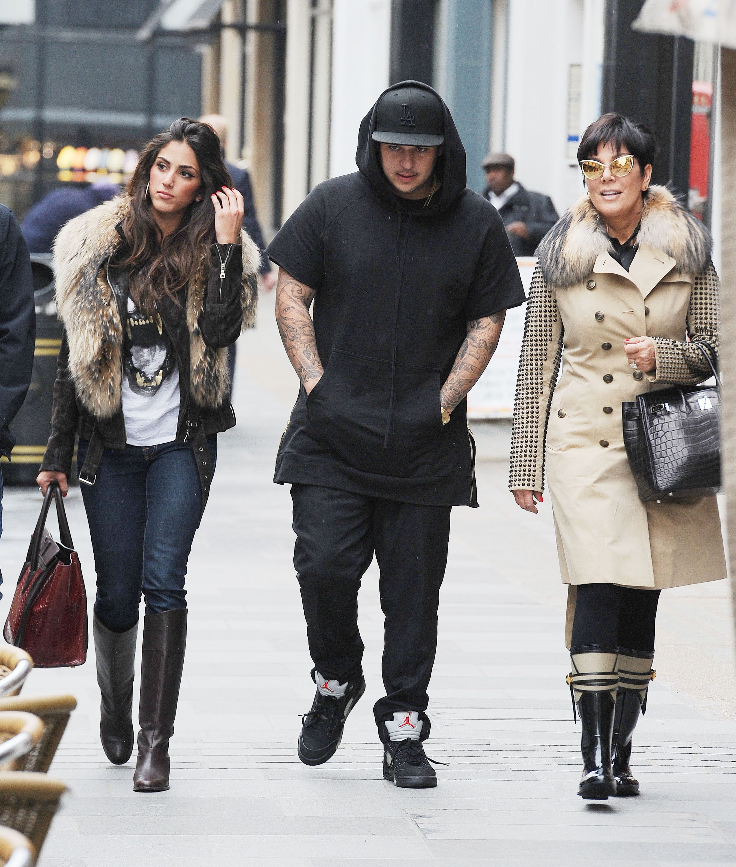 Rob Kardashian y su posible nueva novia, la modelo Naza Jafarian de compras en Londres con Kris Jenner