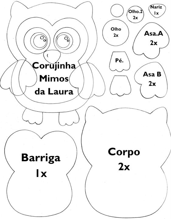 buho.png (562×720)   molde   Pinterest   Molde, Fieltro y Patrones