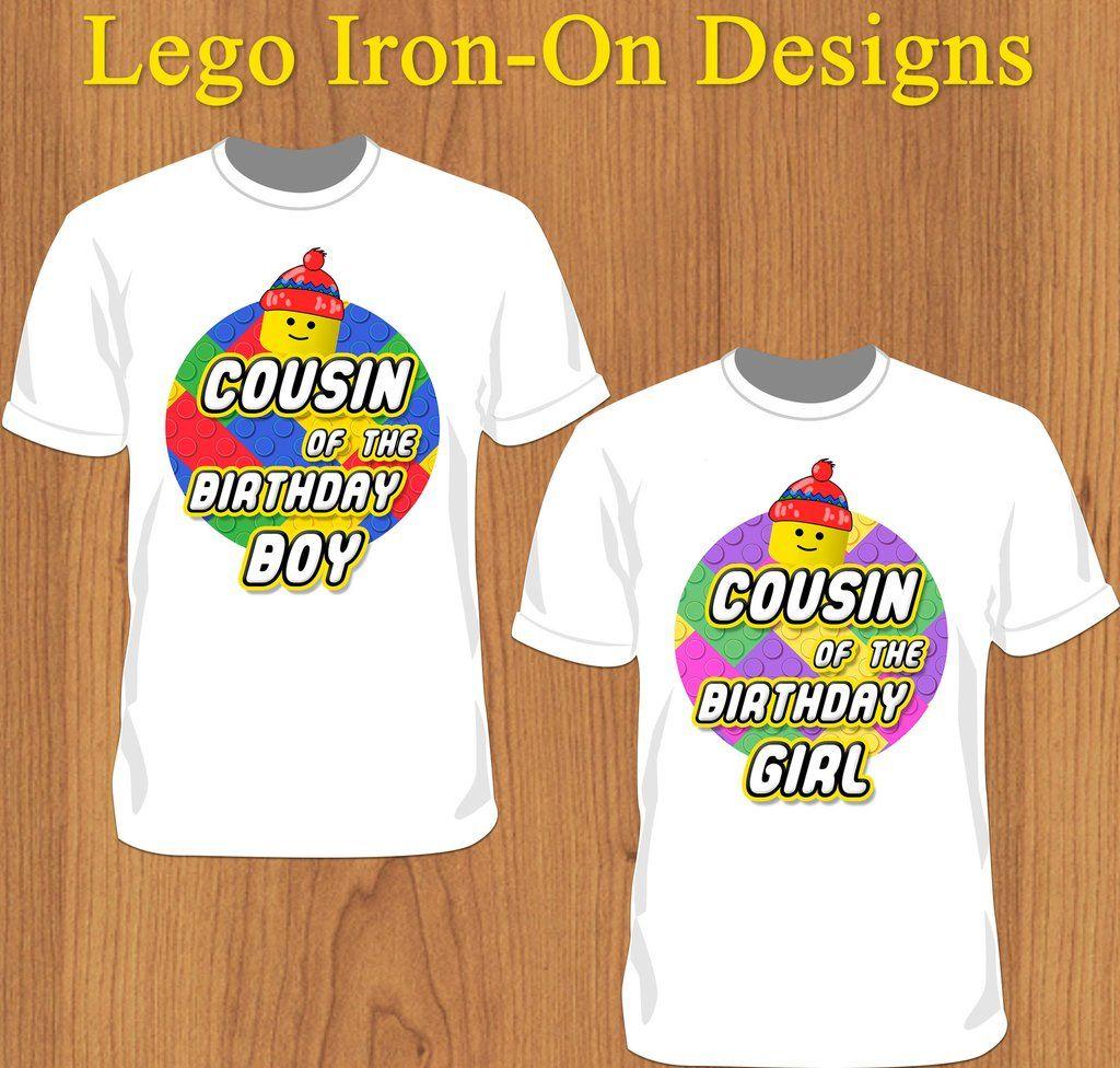 Boy Cousin Lego Birthday Boy or Girl Shirt - Print Ready Template ...