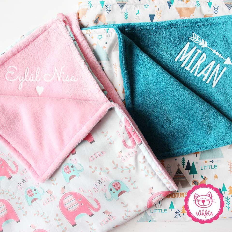 Selbstgenahte Babydecken Super Flauschig Und Auf Wunsch Auch Mit