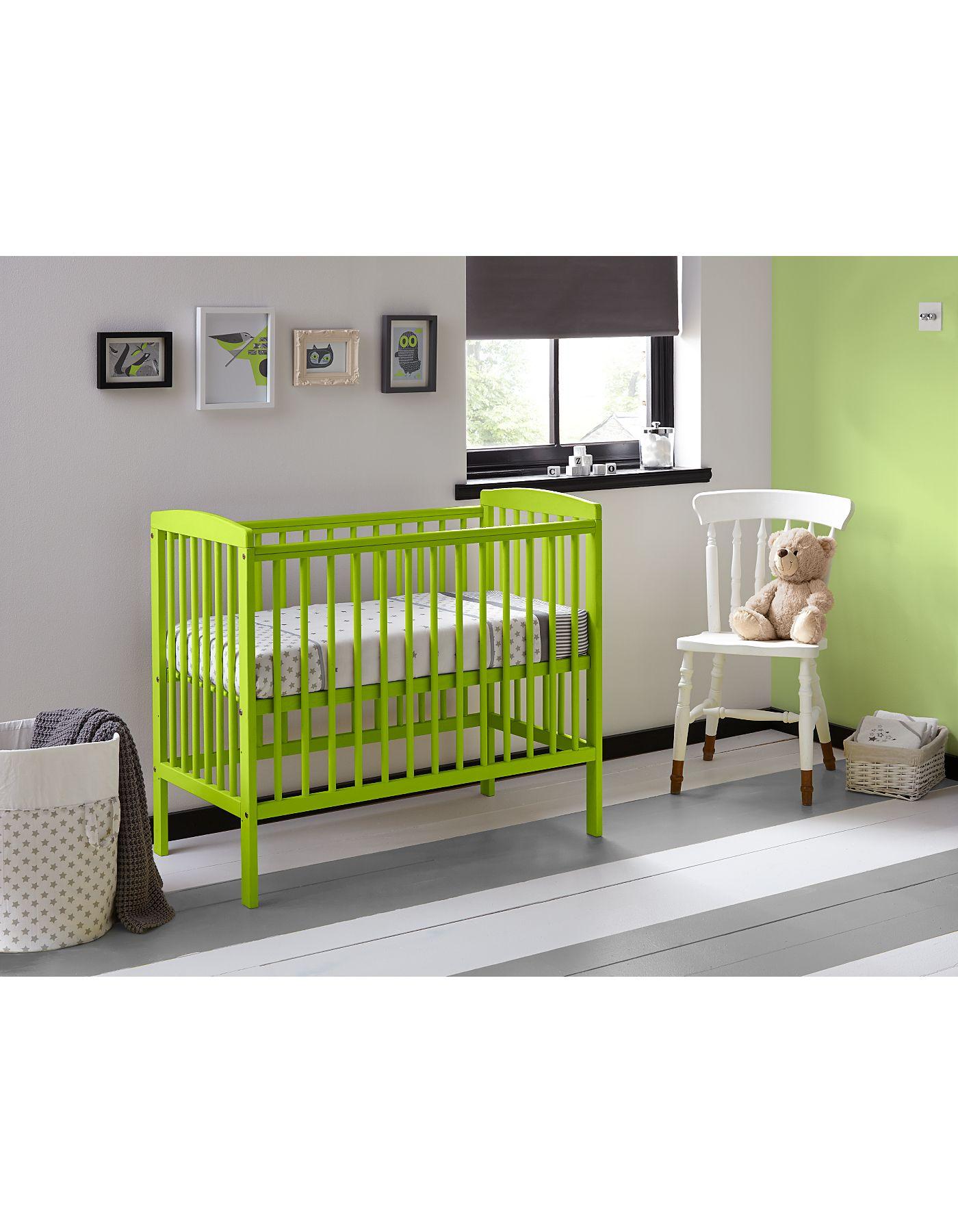 compact nursery furniture. Kinder Valley Kai Compact Cot - Green | Nursery Furniture ASDA Direct L