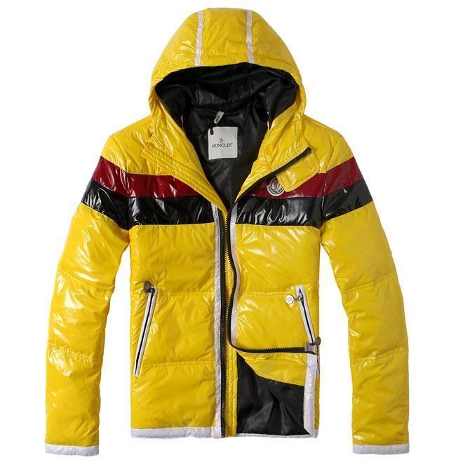 moncler yellow raincoat