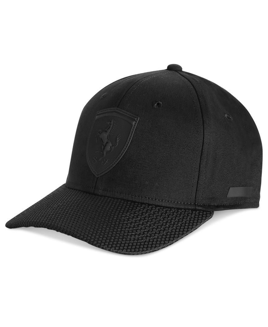 Puma Men s Ferrari Lifestyle First Cap Black Cap Outfit 8c674f360804