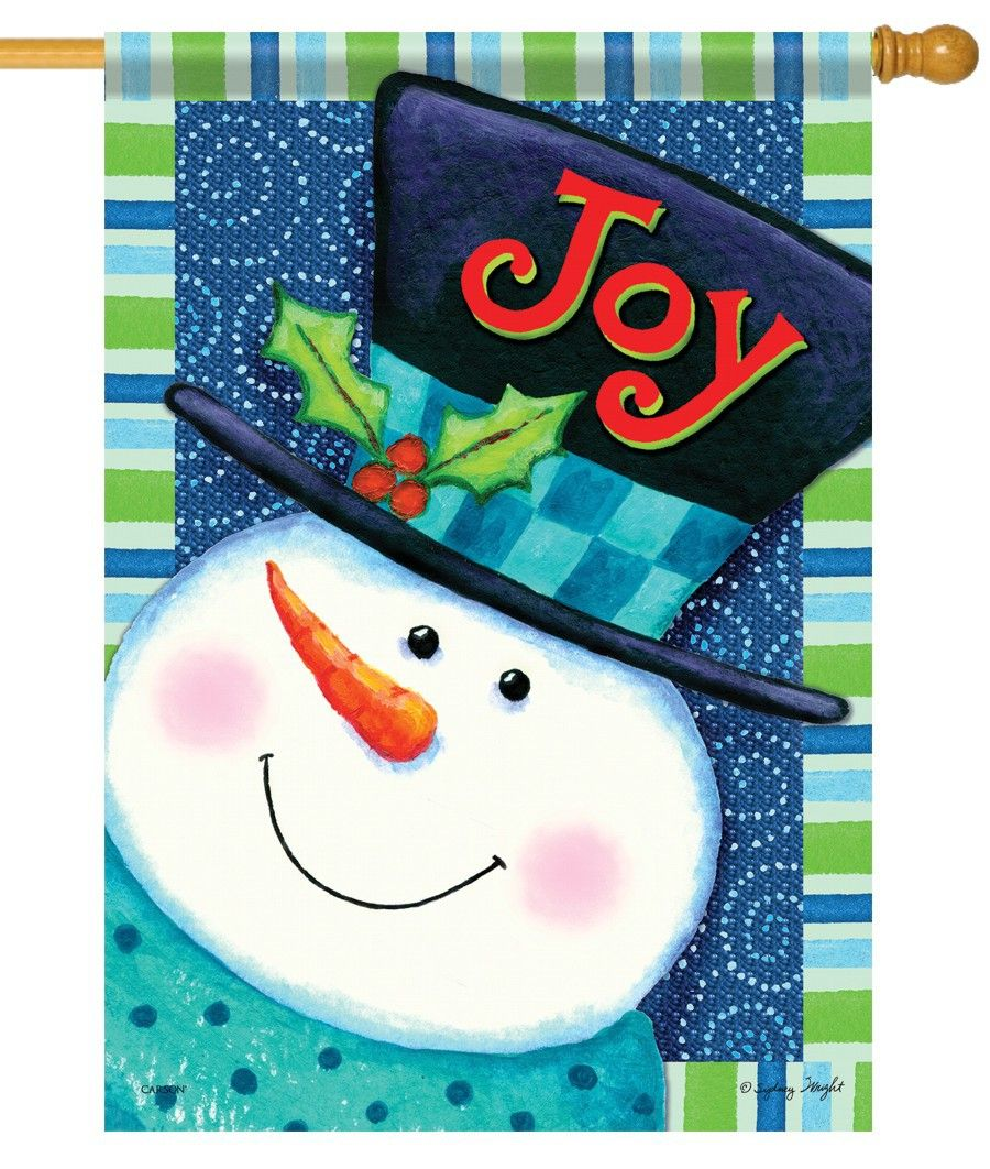 Find This Pin And More On Snowman House Flag And Garden Flag.