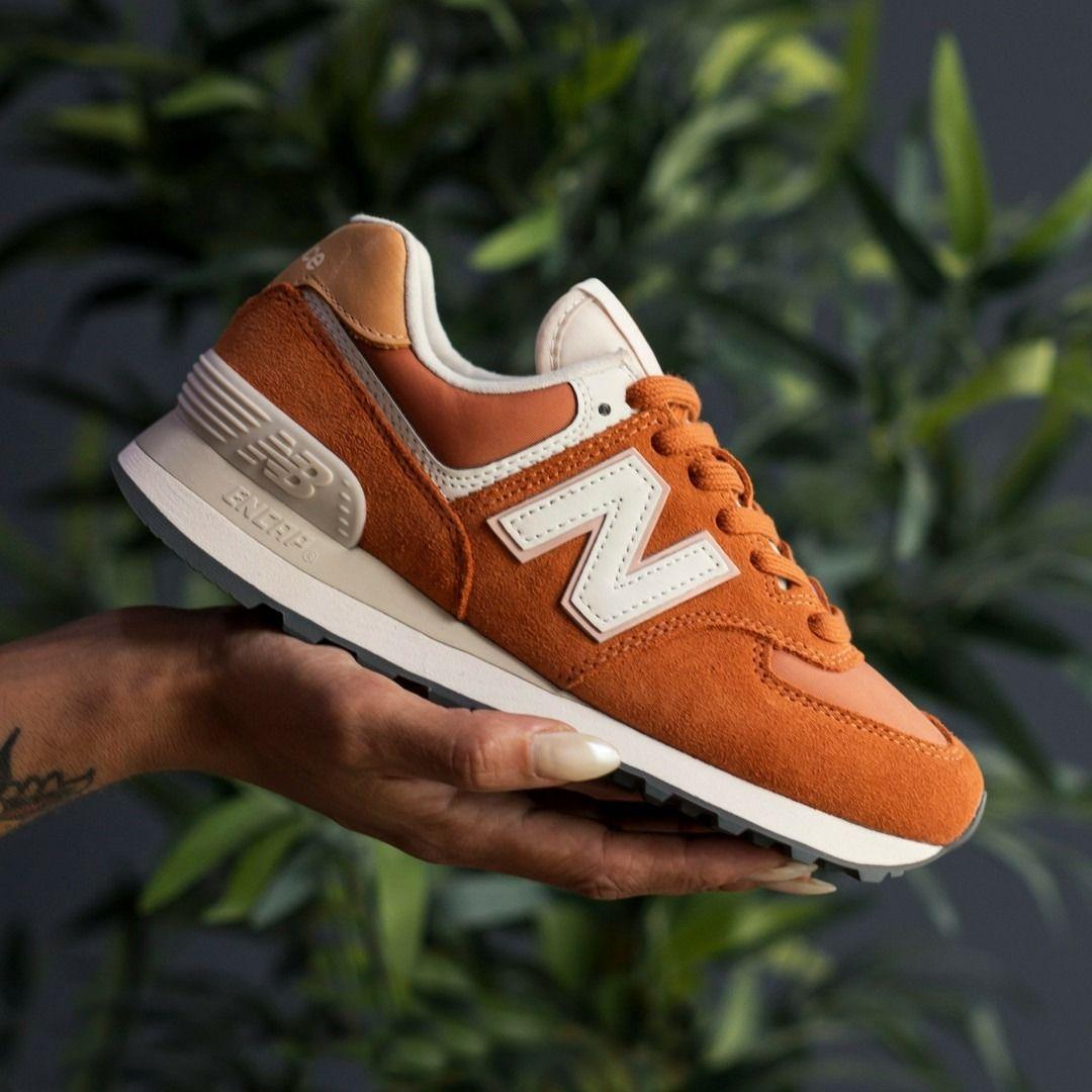 New Balance 574 Orange Suede   Adidas shoes women, Nike shoes ...