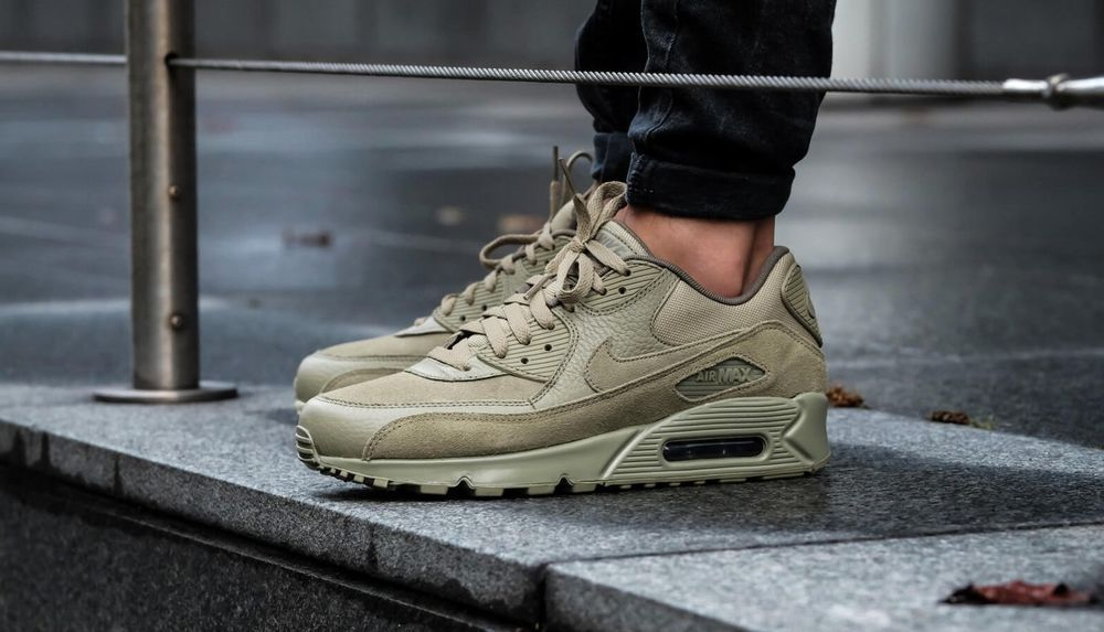 8cb3a3dbab24 NIKE AIR MAX 90 PREMIUM NEUTRAL OLIVE SNEAKERS IN ALL SIZES  Nike   RunningShoes