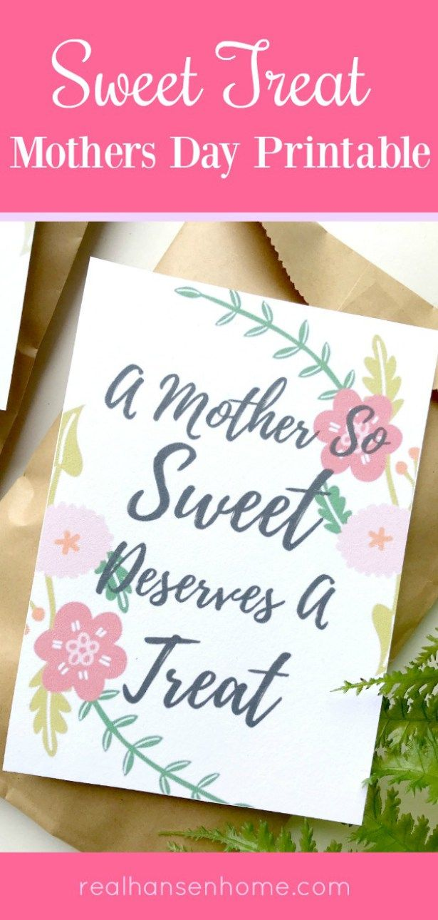 Mothers day free printable tag perfect for every sweet mother or woman who has made  difference so deserves treat also  and home ideas rh in pinterest