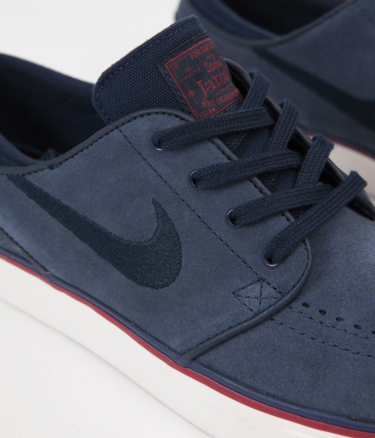 Nike SB Womens Stefan Janoski Shoes - Obsidian   Dark Obsidian - Team Red 713ec1a9cf